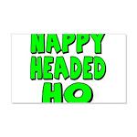 Nappy Headed Ho Green Design 22x14 Wall Peel