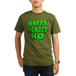 Nappy Headed Ho Green Design Organic Men's T-Shirt