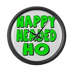Nappy Headed Ho Green Design Large Wall Clock