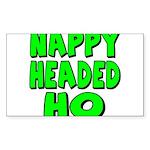 Nappy Headed Ho Green Design Sticker (Rectangle 50
