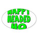 Nappy Headed Ho Green Design Sticker (Oval 50 pk)