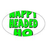 Nappy Headed Ho Green Design Sticker (Oval 10 pk)