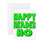 Nappy Headed Ho Green Design Greeting Card