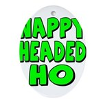 Nappy Headed Ho Green Design Ornament (Oval)