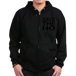 Save The Ho Zip Hoodie (dark)