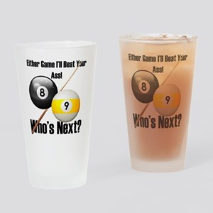 Who's Next Billiards Drinking Glass