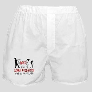 Zombie Apocalypse Waiting Boxer Shorts