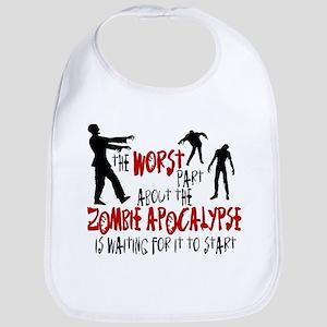 Zombie Apocalypse Waiting Bib