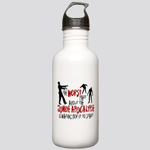 Zombie Apocalypse Waiting Stainless Water Bottle 1