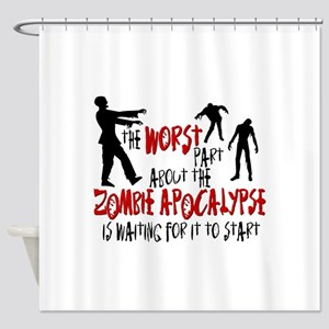 Zombie Apocalypse Waiting Shower Curtain