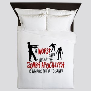 Zombie Apocalypse Waiting Queen Duvet