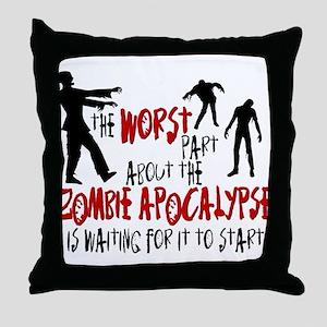 Zombie Apocalypse Waiting Throw Pillow