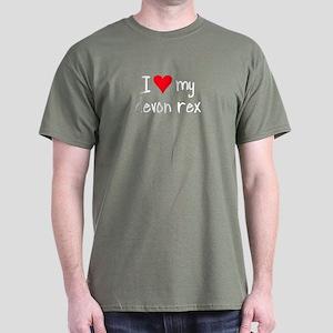 I LOVE MY Devon Rex Dark T-Shirt