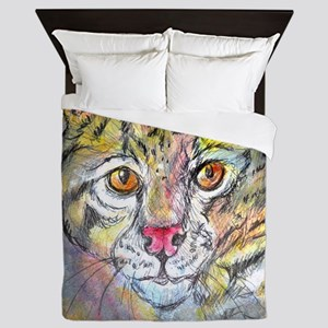 Wildcat! wildlife art! Queen Duvet