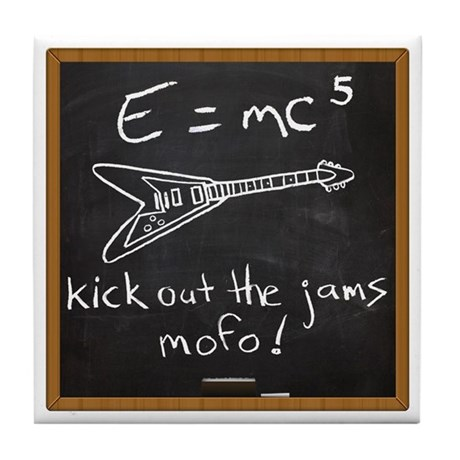 E=mc5 Tile Coaster