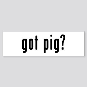 GOT PIG Sticker (Bumper)