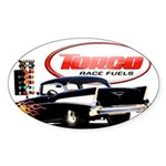 57 Chevy Dragster Sticker (Oval 10 pk)