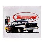 57 Chevy Dragster Throw Blanket