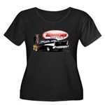 57 Chevy Dragster Women's Plus Size Scoop Neck Dar