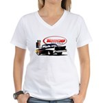 57 Chevy Dragster Women's V-Neck T-Shirt