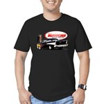 57 Chevy Dragster Men's Fitted T-Shirt (dark)