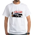 57 Chevy Dragster White T-Shirt