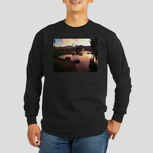 Scarlet Reflections Long Sleeve Dark T-Shirt