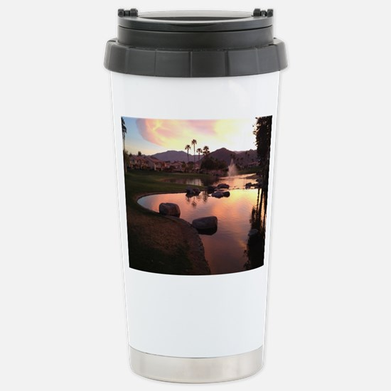 Scarlet Reflections Stainless Steel Travel Mug