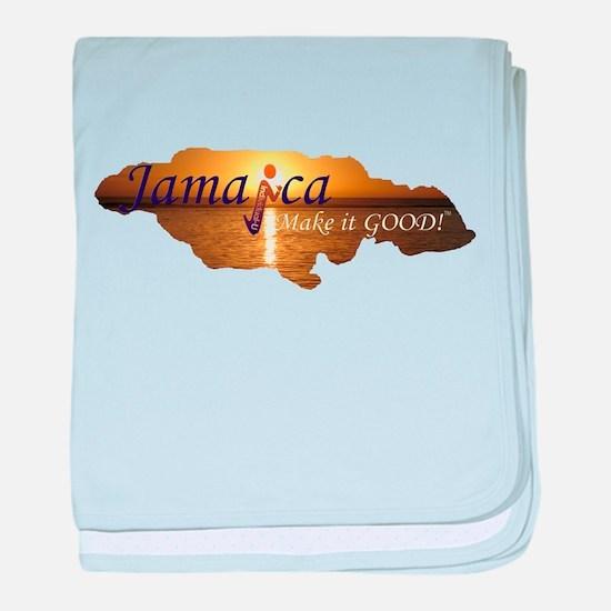 Jamaica Sunset I Make it Good baby blanket