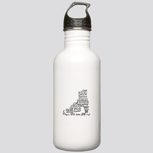 Skate Typography Stainless Water Bottle 1.0L