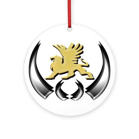 Gold Griffin Ornament (Round)