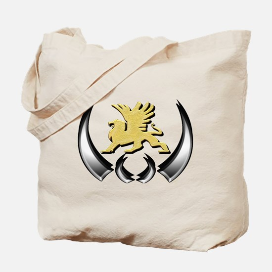 Gold Griffin Tote Bag