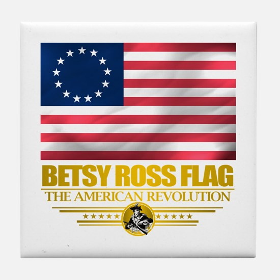 """Betsy Ross Flag"" Tile Coaster"