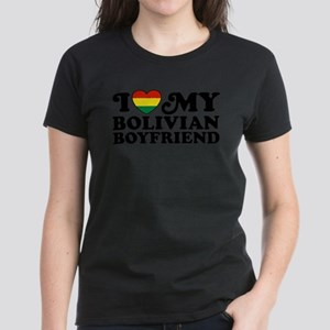 I Love My Bolivian Boyfriend Women's Dark T-Shirt