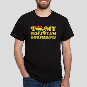 I Love My Bolivian Boyfriend Dark T-Shirt