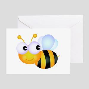 Cute Cartoon Bumble Bee Greeting Card