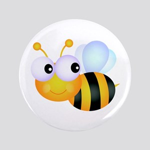 "Cute Cartoon Bumble Bee 3.5"" Button"