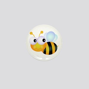 Cute Cartoon Bumble Bee Mini Button