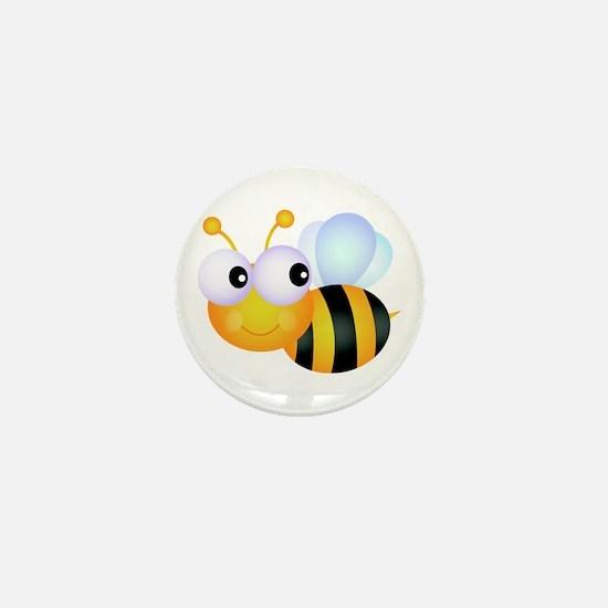 Cute Cartoon Bumble Bee Mini Button
