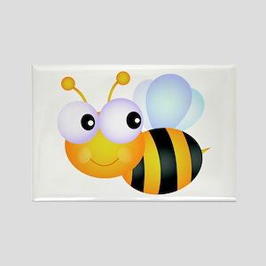 Cute Cartoon Bumble Bee Rectangle Magnet