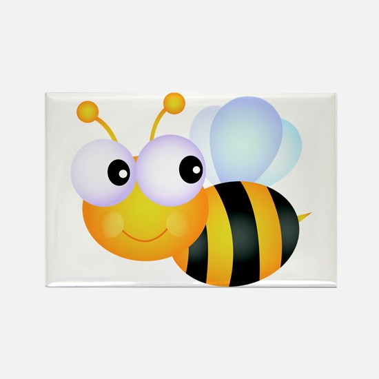 Cute Cartoon Bumble Bee Rectangle Magnet