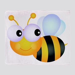 Cute Cartoon Bumble Bee Throw Blanket