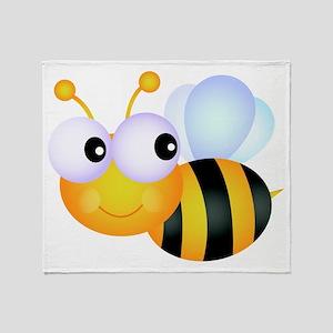Cute Cartoon Bumble Bee Throw Blanket