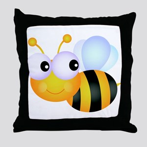 Cute Cartoon Bumble Bee Throw Pillow