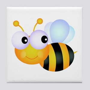 Cute Cartoon Bumble Bee Tile Coaster