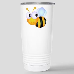 Cute Cartoon Bumble Bee Stainless Steel Travel Mug