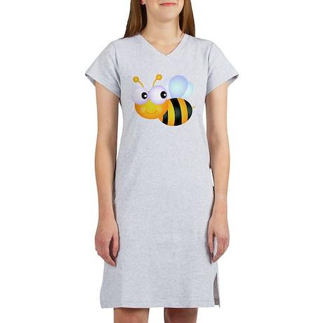 Cute Cartoon Bumble Bee Women's Nightshirt