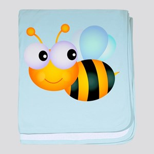 Cute Cartoon Bumble Bee baby blanket