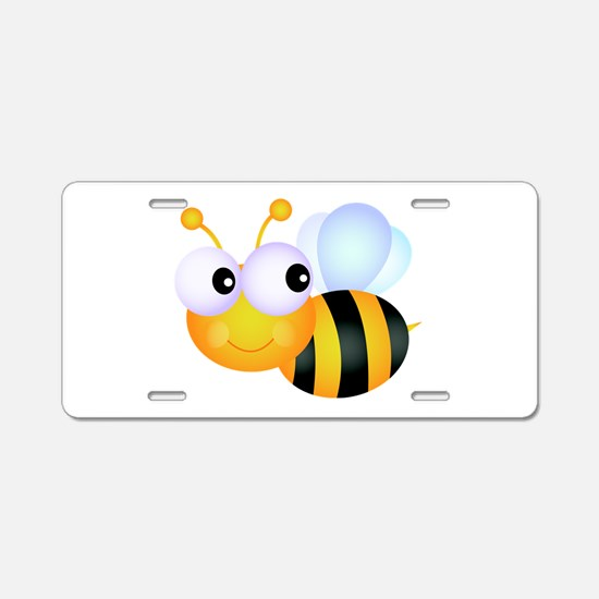 Cute Cartoon Bumble Bee Aluminum License Plate