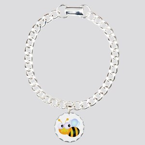 Cute Cartoon Bumble Bee Charm Bracelet, One Charm